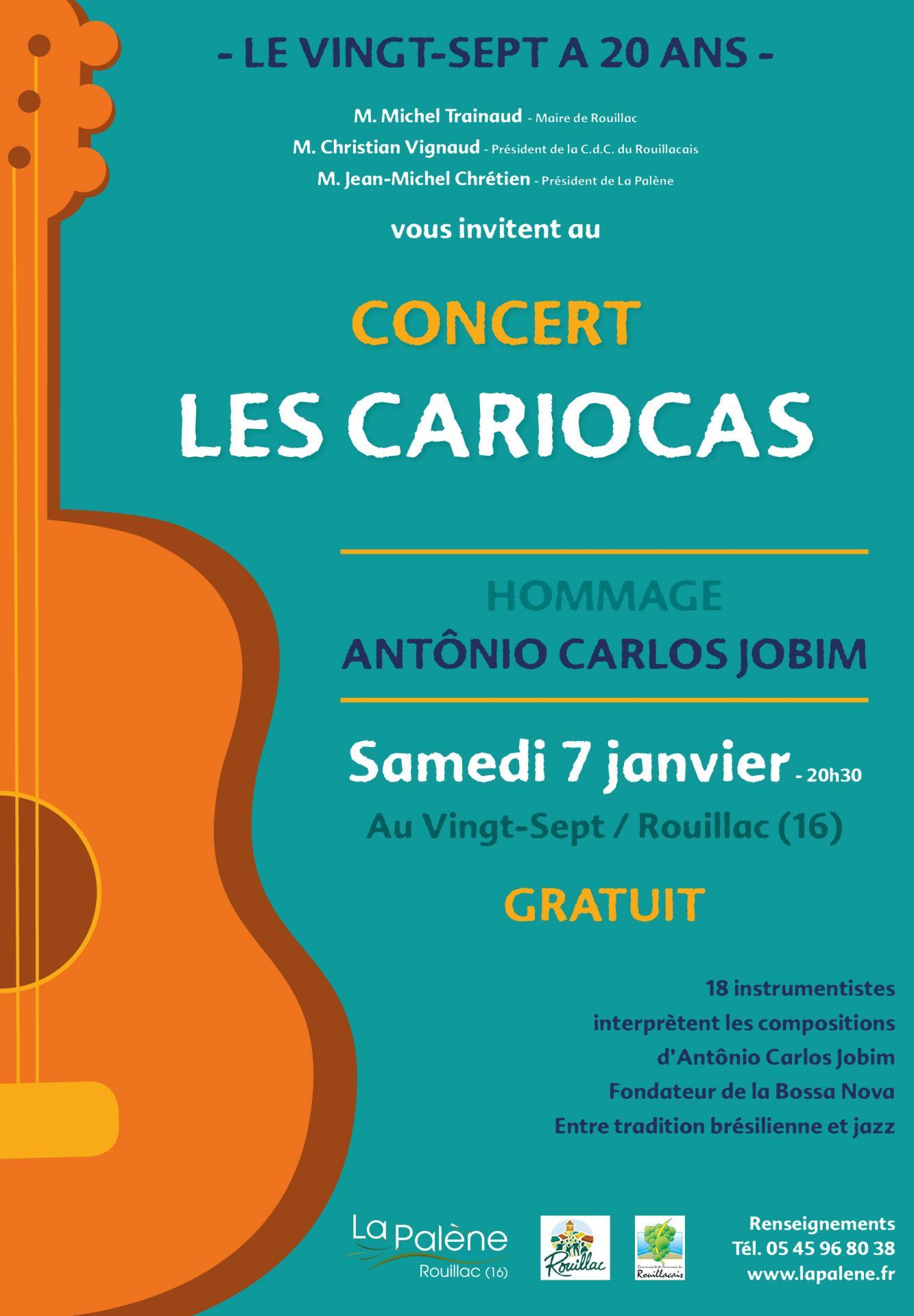 Affiche Concert Les Cariocas