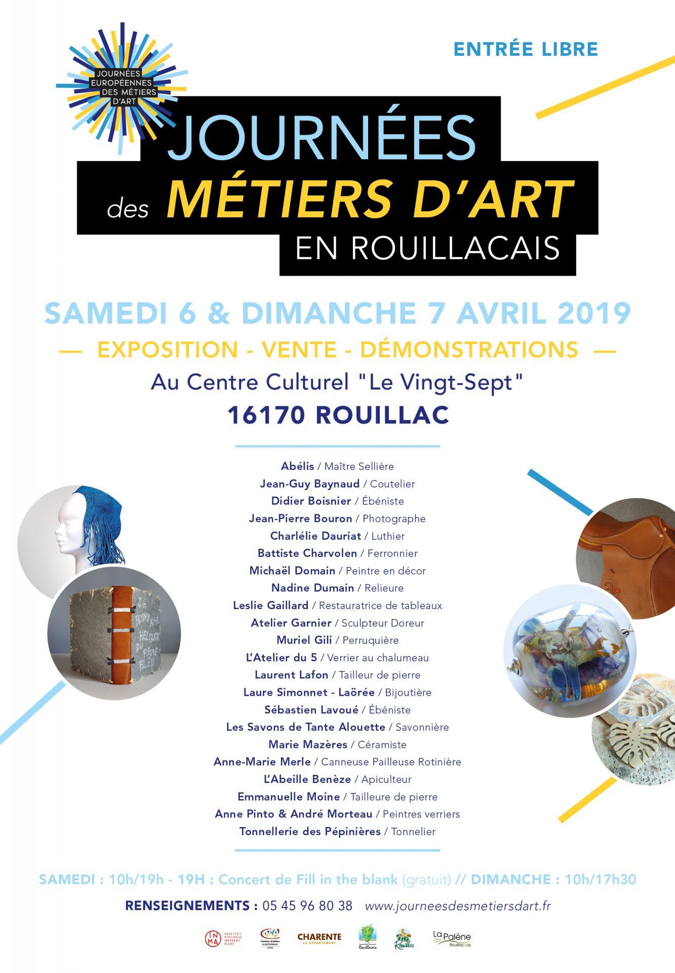 Journées des Métiers d'Art en Rouillacais 2019