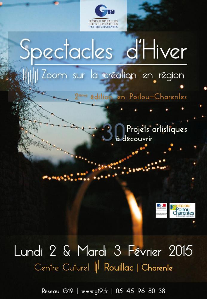 Affiche Spectacles d'Hiver 2015