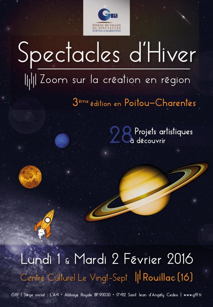 Affiche Spectacles d'Hiver 2016