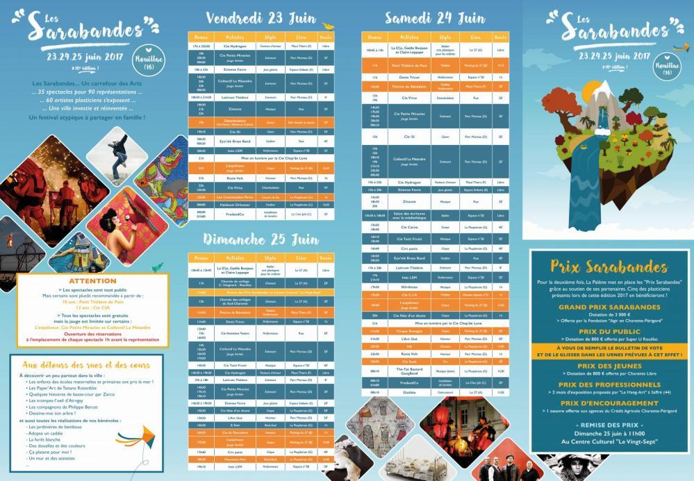 Plan Recto - Sarabandes 2017