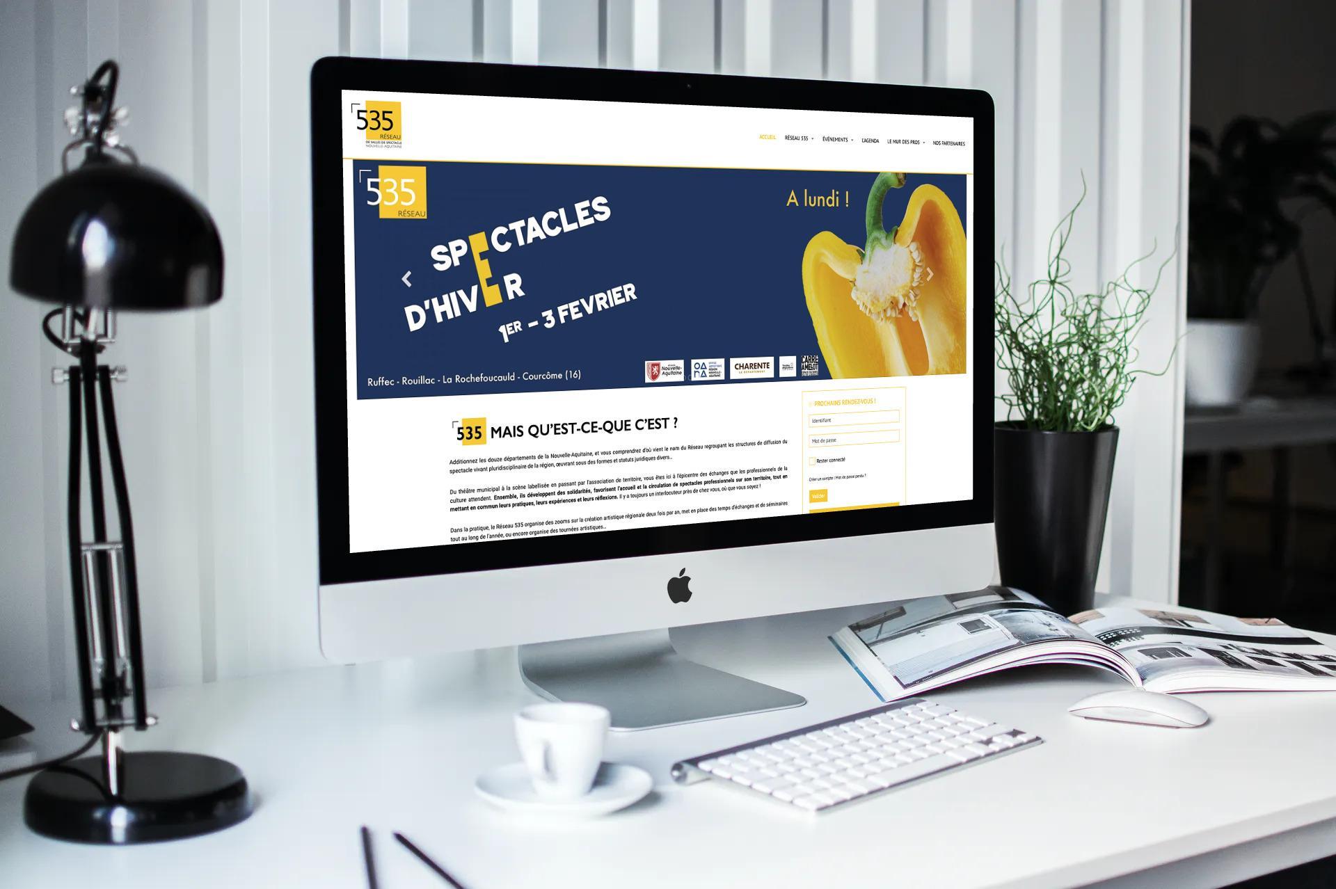Site internet Réseau 535