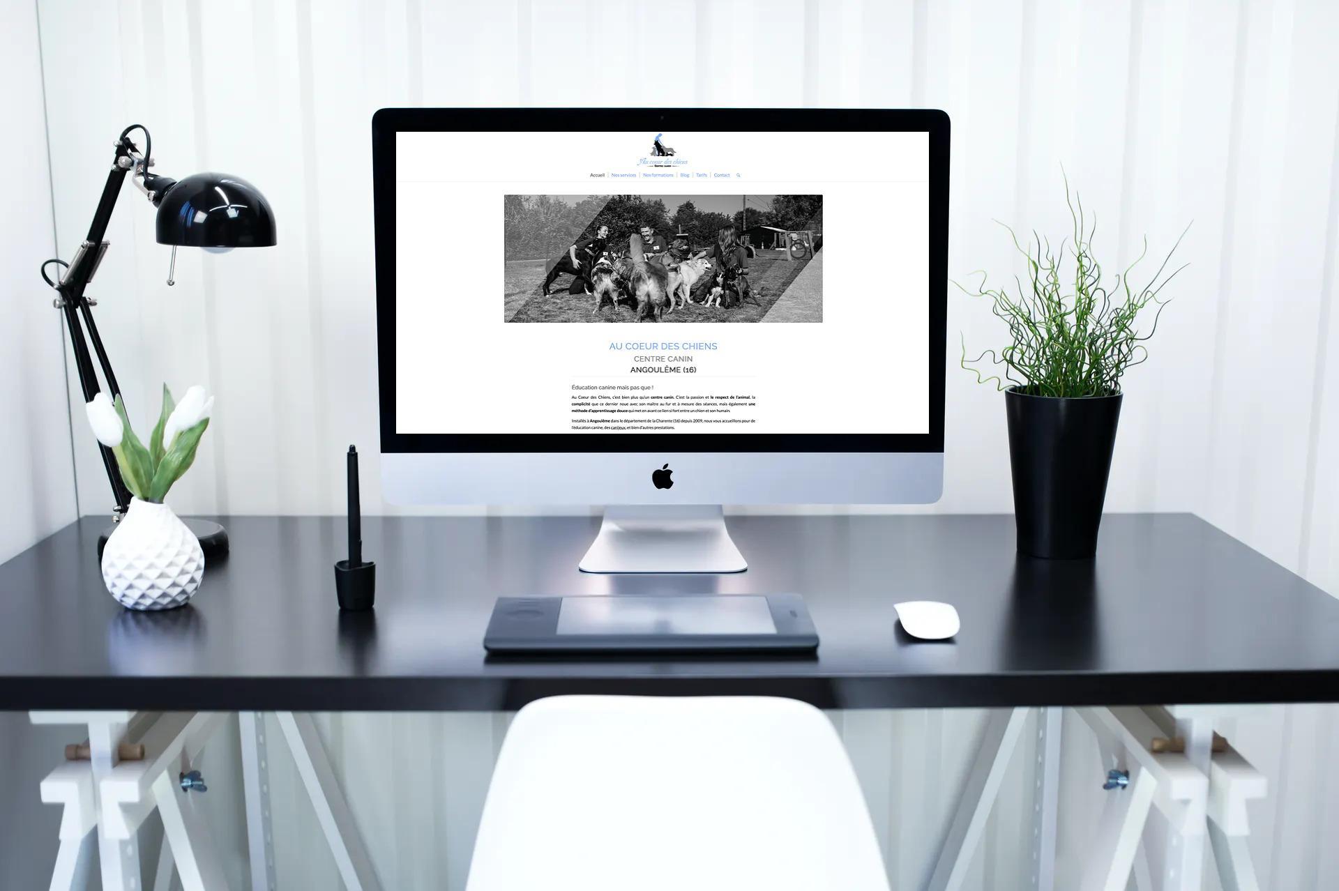 Site internet Au Coeur des Chiens
